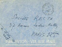 Poste Aux Armees - T.O.E. Théâtres D'Opérations Extérieurs Ausseneinsätze - Soc. Recta Paris - 1955 - Postmark Collection (Covers)