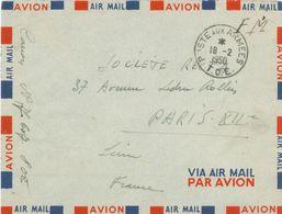 Poste Aux Armees - T.O.E. Théâtres D'Opérations Extérieurs Ausseneinsätze - Soc. Recta Paris - 1950 - Postmark Collection (Covers)