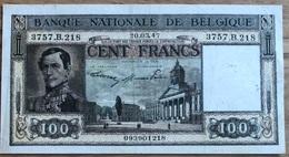 100 Francs Dynastie 20/03/1947! Zfr+ Eerste Drukmaand!! 1218 - 100 Franchi