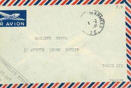 Poste Aux Armees - T.O.E. Théâtres D'Opérations Extérieurs Ausseneinsätze - Soc. Recta Paris - 1951 - Postmark Collection (Covers)