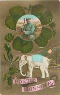 Fantaisie - Elephant Porte Bonheur - Militaire    N 2895 - Elefanten