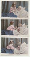 Série De 3 Cartes - Enfants Le Repas, La Prière, Le Sommeil...cartes Glacées - Autres