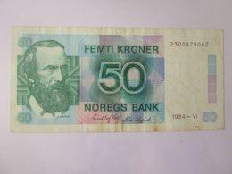 Rare! Norway 50 Kroner 1984 Banknote - Noorwegen