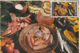 Carte  Maximum  POLYNESIE   Gastronomie   :  Fafaru   1988 - Food