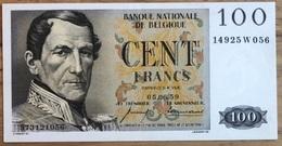 100 Francs Eeuwfeest UNC!! 05/06/1959!! Vincent - Ansiaux!! 1056 - 100 Franchi