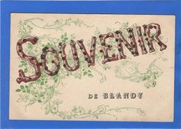 91 ESSONNE - BLANDY Carte Souvenir Avec Paillettes ( Voir Descriptif ) - France
