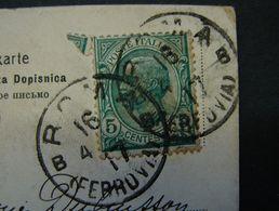 LetDoc. 254. Roma Ferrovia 1917 Sur CP De Rome Vers Houdeng Goegnies (Belgique) - Marcophilie