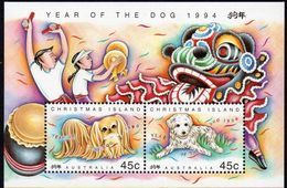 CHRISTMAS Is, 1994 YEAR OF THE DOG MINISHEET MNH - Christmas Island
