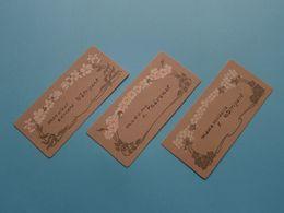 Thévenet C. > Edouard WATRIGANT > Y. Watrigant (3 Cartes) Form. +/- 9 X 4 Cm.! - Visiting Cards