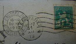 LetDoc. 223. Lion Debout N°510 Cachet étoiles De Mainvault 1931 Sur CP - Marcophilie