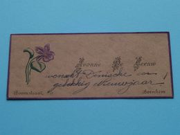 BORNHEM Boomstraat > De LEEUW Yvonne () Form. +/- 9,5 X 4 Cm.! - Visiting Cards