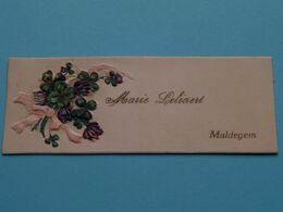 MALDEGEM > Marie LELIAERT ( Mijn Beste Nieuw Jaarswenschen ) Form. +/- 3,5 X 10 Cm. ! - Visiting Cards