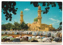 NIGERIA  POSTCARD , VIEW CARD FAMOUS KANO MOSQUE PRAYER IN MOSQUE NORTHERN NIGERIA - Irak