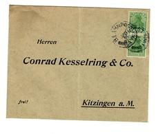 Bahnpost Brief 1921 Nach Kitzingen - Allemagne