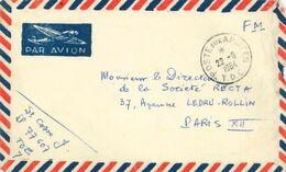 Poste Aux Armees - T.O.E. Théâtres D'Opérations Extérieurs Ausseneinsätze - Soc. Recta Paris - 1954 - Postmark Collection (Covers)