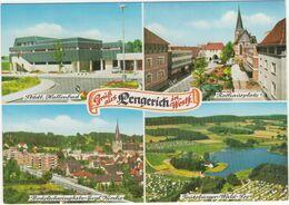 Lengerich: Städtl. Hallenbad, Rathausplatz, Bodelschwinghstr.-Evgl. Kirche, Teütobürger-Wald-See - (Westf.) - Steinfurt