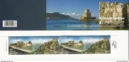 "GRECIA/ GREECE/ GRIECHENLAND/ HELLAS  -EUROPA 2017- ""CASTILLOS - CASTLES - SCHLÖSSER"".-  CARNET- 2 SERIES De 2 V.TIPO C - 2017"