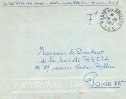 Poste Aux Armees - T.O.E. Théâtres D'Opérations Extérieurs Ausseneinsätze - Soc. Recta Paris - 1953 - Postmark Collection (Covers)
