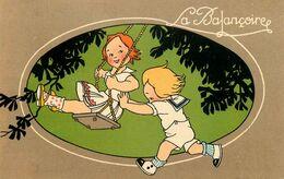 La Balançoire * CPA Illustrateur * Enfants Jeu Jeux Jouet Jouets * Au Dos Publicité Chaussures RAOUL - Games & Toys