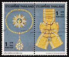 Thailand Stamp 1979 Royal Decorations (1st Series) 1 Baht In Pair - Used - Tailandia