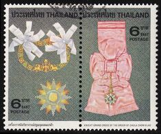 Thailand Stamp 1979 Royal Decorations (1st Series) 6 Baht In Pair - Used - Tailandia