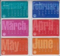 UAE 1999 CALENDAR SET OF 12 CARDS - Emirati Arabi Uniti