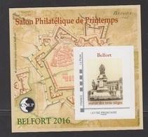 CNEP-2016-N°71** BELFORT .Salon Philathélique De BELFORT - CNEP