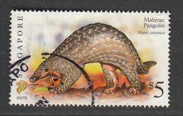"Singapore, 2007 Definitive Stamp Series, $5 Malayan Pangolin ""2007D"", Fine Used - Singapur (1959-...)"