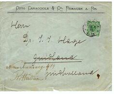 ALLEMAGNE 1896: LSC De Remagen Pour Rotterdam (Pays-Bas), Affr. De 5 Pf. (Tarif Imprimés) - Germany