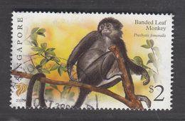 "Singapore, 2007 Definitive Stamp Series, $2 Banded Leaf Monkey ""2007A"", Fine Used - Singapur (1959-...)"