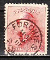 168  Roi Albert Casqué - Bonne Valeur - Oblit. FORCHIES - LOOK!!!! - 1919-1920 Trench Helmet