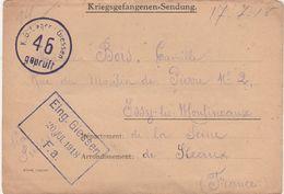 17-7-18 / Lettre D'un Prisonnier à Son épouse /KG Lager GIESSEN Allemagne /44ème RIT / Soldat BOIS D' Issy Moulineaux 92 - 1914-18