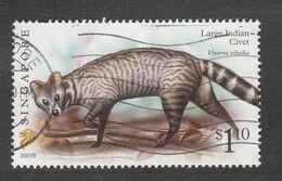 "Singapore, 2007 Definitive Stamp Series, $1.10 Large Indian Civet ""2007B"", Fine Used - Singapur (1959-...)"