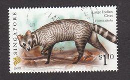 "Singapore, 2007 Definitive Stamp Series, $1.10 Large Indian Civet ""2007D"", Fine Used - Singapur (1959-...)"