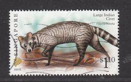 "Singapore, 2007 Definitive Stamp Series, $1.10 Large Indian Civet ""2007E"", Fine Used - Singapur (1959-...)"