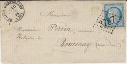 1874- Enveloppe De St-OYEN--MONTBELLET ( Saône Et Loire ) Cad T16 Affr. N°60 Oblit. G C 3487 - 1849-1876: Classic Period