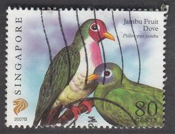 "Singapore, 2007 Definitive Stamp Series, 80 Cents, Jambu Fruit Dove ""2007B"", Fine Used - Singapur (1959-...)"