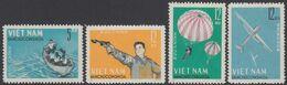Vietnam (North) 1964 - National Defense Games: Parachuting, Shooting, Glider, Rowers - Mi 330-333 ** MNH - Vietnam