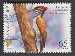 "Singapore, 2007 Definitive Stamp Series, 65 Cents, Common Goldenback ""2007B"", Fine Used - Singapur (1959-...)"