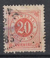 ZWEDEN - Michel - 1872 - Nr 22 Ba (T/D 13 : 13 1/2) - Gest/Obl/Us - Oblitérés