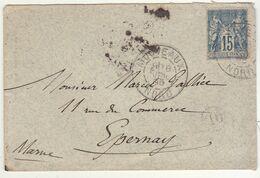 "ESC 15c Sage O. Cad Mouveaux Nord + ""OL"" 1895 - 1877-1920: Periodo Semi Moderno"