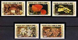 Comoro Isl.(Comores)-1985, Mi.762-766, Mushrooms, MNH** - Sonstige