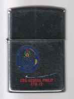 ZIPPO - U.S.S. GEORGE PHILIP  FFG-12 - Chromé, Année 1989 - SB - 06 - Zippo