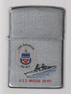 ZIPPO - U.S.S. BRISCOE  DD-977 - Chromé Brossé, Année 1983 - SB - 07 - Zippo
