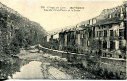 N°2578 R -cpa Meyrueis -rue Du Pont Vieux Et La Jonte- - Meyrueis