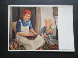 3.Reich Propagandakarte RAD Künstlerkarte Max Wechsler, München Die Arbeitsmaid Im Dienst - Alemania