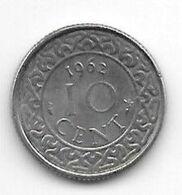 Suriname 10  Cents 1962  Km 13   Xf+/ms60 - Suriname 1975 - ...