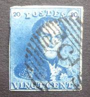 BELGIE  1849   Nr. 2    Centraal Gestempeld       CW 60,00 - 1849 Epaulettes