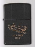 ZIPPO - U.S.S. GUAM  LPH-9 - Noir, Année 1987 - (jamais Servi) SB - 09 - Zippo