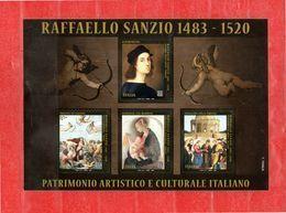 Italia ** - 2020 -  RAFFAELLO SANZIO. FOGLIETTO NUOVO .  MNH - Blocchi & Foglietti